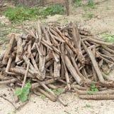 堆木头。 库存图片