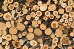 堆木柴背景纹理 库存照片
