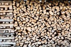 堆木柴 免版税库存照片
