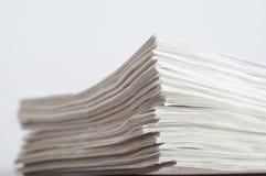 堆板料纸 库存照片