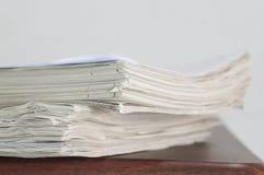 堆板料纸 免版税库存照片