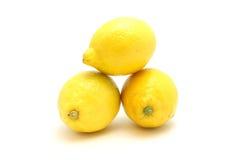 堆柠檬 库存照片