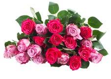 堆桃红色花 库存照片