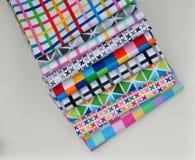 堆棉花缝制的织品 库存图片