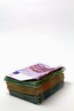 堆欧洲金钱 库存照片