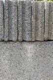 堆水泥砖块关闭纹理背景 免版税图库摄影