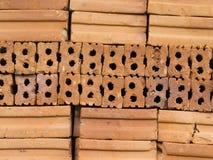堆泰国红砖 免版税库存照片