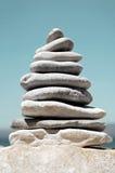 堆海小卵石 免版税库存照片