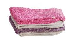 堆温暖的妇女袜子 免版税库存图片