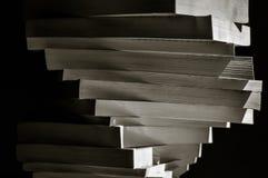 堆漩涡在被定调子的黑白乌贼属的书 库存图片
