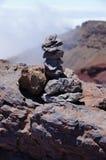 堆火山的石头 免版税库存图片