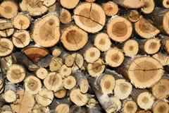 堆火木背景纹理 库存照片