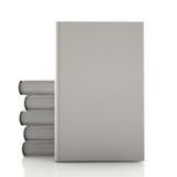 堆灰色书 库存照片