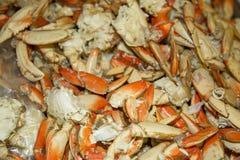 堆煮熟的螃蟹 免版税图库摄影