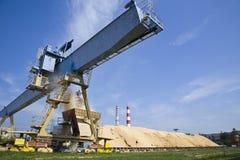 生物量在能源厂中 免版税库存照片