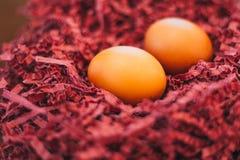 堆特写镜头五颜六色的巧克力复活节彩蛋 库存照片