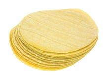 堆玉米粉薄烙饼 图库摄影