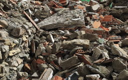 堆瓦砾 免版税库存图片
