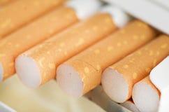 堆的特写镜头香烟 免版税图库摄影
