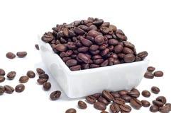 烤咖啡豆 免版税库存照片