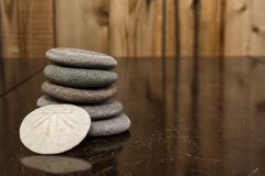 堆的颜色图象Granit岩石和沙子Dollarll 库存图片
