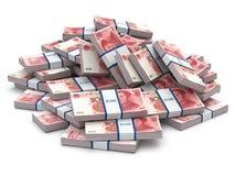 堆盒元。许多现金金钱。 免版税图库摄影