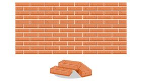 堆砖传染媒介例证 库存例证