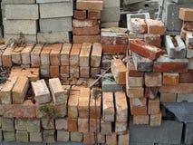 堆砖和具体块 免版税图库摄影