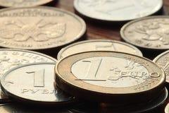 堆硬币概念美元 图库摄影