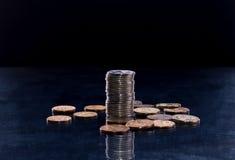 堆硬币 库存图片
