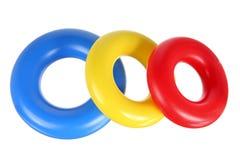 堆积圆环的玩具 免版税图库摄影
