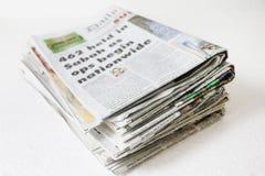 堆积报纸 免版税库存照片