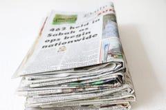堆积报纸 图库摄影