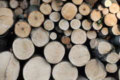堆积火木头 免版税库存图片