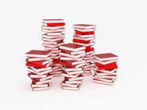 堆红色书 皇族释放例证