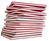 堆红色书 免版税库存图片
