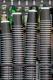 堆纸咖啡 免版税图库摄影