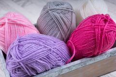堆编织的羊毛 库存照片