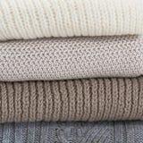 堆羊毛毛线衣 免版税图库摄影