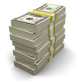 堆美元(包括的裁减路线) 免版税图库摄影