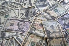 堆美国货币美元背景 免版税库存图片