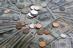 堆美国货币美元 免版税库存图片