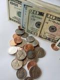堆美国货币背景 图库摄影