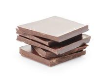 堆美好的牛奶巧克力 库存照片