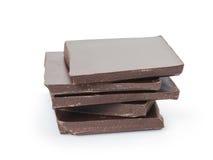 堆美好的黑暗的巧克力 免版税库存图片