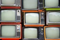 堆老电视 免版税库存图片