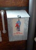 堆肥洗手间指示 免版税库存照片