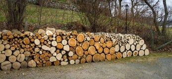 堆自然木日志 免版税库存照片