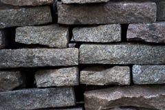 堆花岗岩石头 免版税库存图片