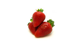 堆草莓 库存照片